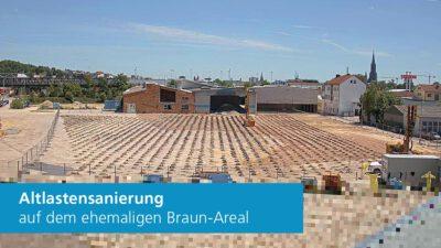 Webcam Status Quo der Baustelle Gewerbegebiet »Nördlich der Blaubeurer Straße«
