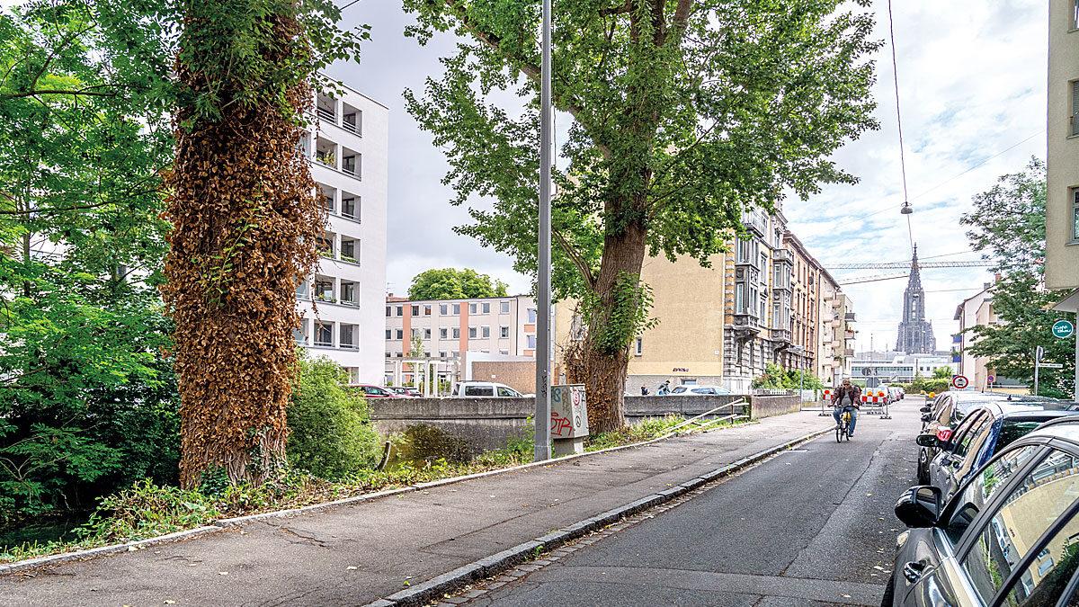 Blick von der Gartenstraße im Dichterviertel auf da Ulmer Münster
